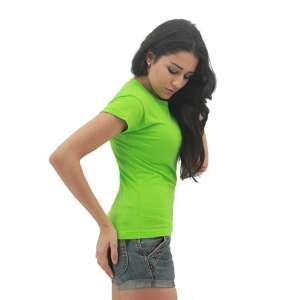 MAXIMUS Ladies Round Neck Apple Green