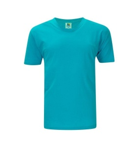 Foursquare RoundNeck T-Shirt (160gsm) -Turquoise