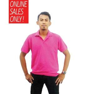 NICE apparel 100% Cotton Polo - Fuchsia