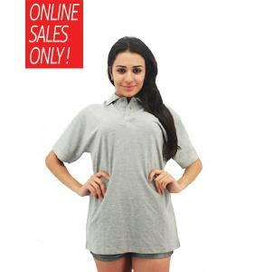 NICE apparel 100% Cotton Polo - Grey Melange