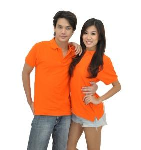No Shrink Honeycomb 100% Cotton Polo - Orange