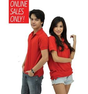 NICE apparel 100% Cotton Polo - Red