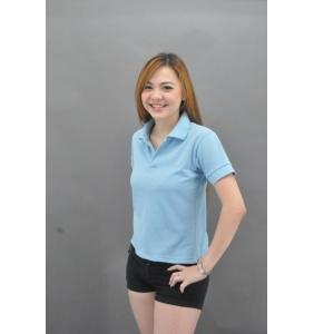 Clearance 100% Cotton Polo - Sky Blue