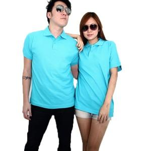 No Shrink Honeycomb 100% Cotton Polo - Turquoise