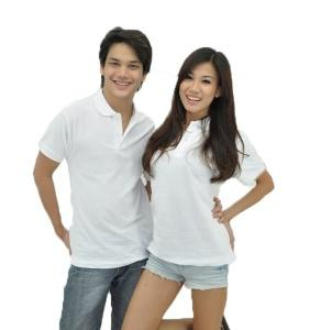 No Shrink Honeycomb 100% Cotton Polo - White