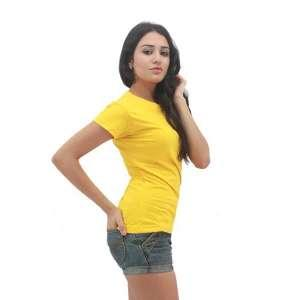 MAXIMUS Ladies Round Neck Yellow
